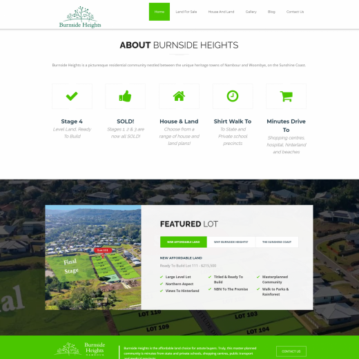 Burnside Heights Website